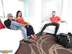 Our gorgeous Isabella Cruz is shacking up with her hubby and has an unexpected guest. Our boy is definitely down for some thick, juicy TS ass. As he tried to take an afternoon nap, you know Isabella couldn't contain herself.